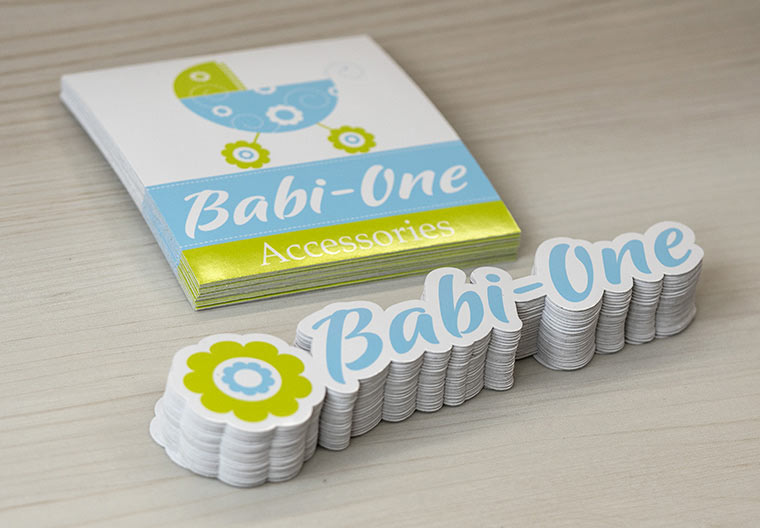 BabiOne Stickers for Retail Merchandising. Made in Canada