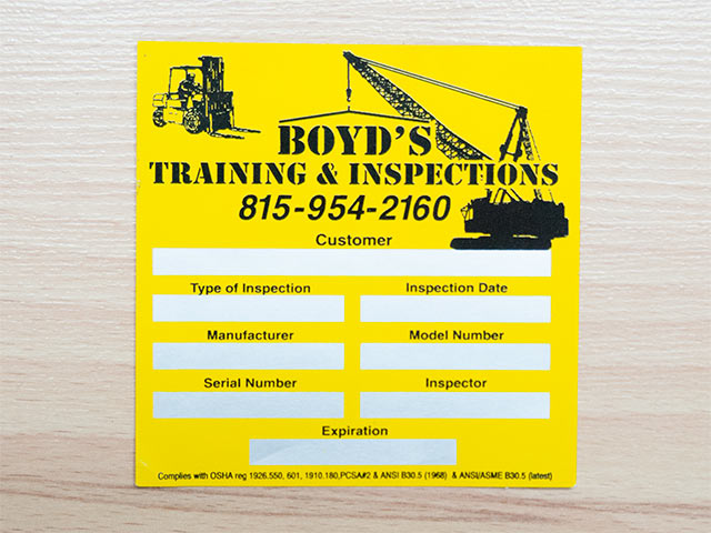 Inspection Stickers - Write-on, Embossible/Debossible Labels, Stickers, Decals