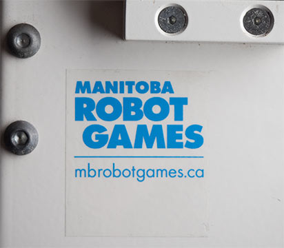 Manitoba Robot Games Sticker