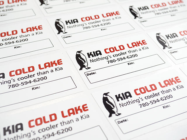 Kiss cut sheets of repositionable adhesive labels from Canada Sticker King