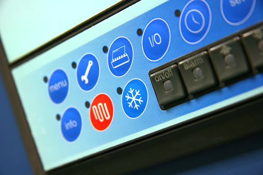 Control Panel Face Plate - Matte Lexan, with 3M 300 LSE Adhesive. Printed in Canada.