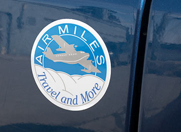 Air Miles Vehicle Decal, Taxi, uber graphics. Made in Canada. Taxi Rates Notice Sticker.