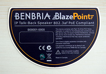 Compliance Notice, Polycarbonate Decal, Canadian Made