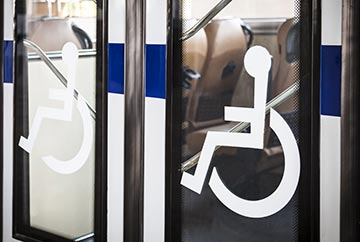 Handicap Symbol on Bus Door