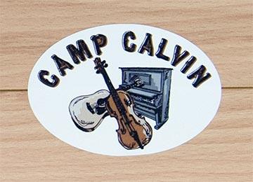 Camp Calvin Bumper Stickers, produced by CanadaStickerKing.com