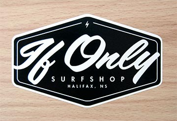 Surf Shop promotional decals, made in Canadastickerking.com