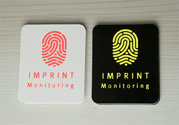 Secuirty Stickers, fluorescent yellow and flourescent orange printing colours