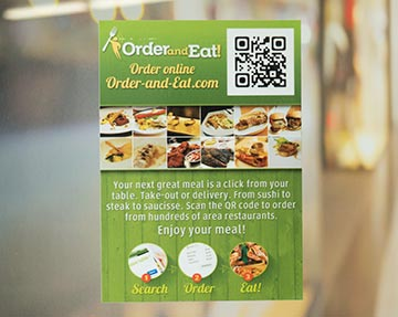 Double-sided Window Sticker from CanadaStickerKing.com