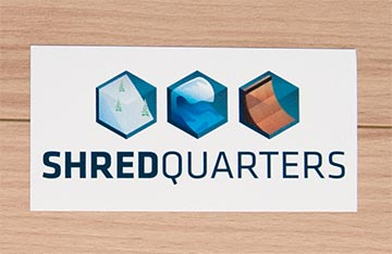 ShredQuarters Promotional Decal - Printed by CanadaStickerKing.com