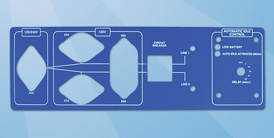 Lexan Panel with internal Cut outs, from Canada Sticker King