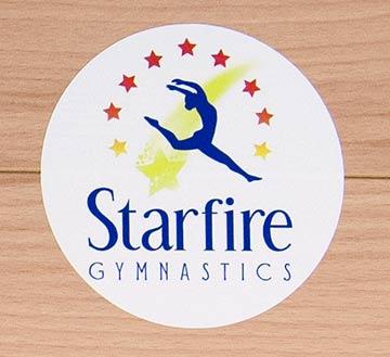 Starfire Gymnastics, Window Sticker custom printed by canadastickerking.com