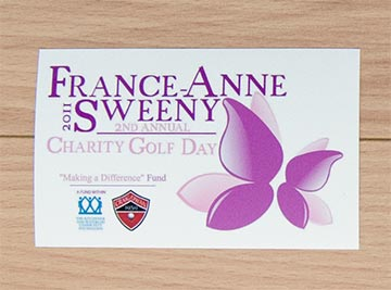 Golf Tournament Promotional Vinyl Stickers, from CanadaStickerKing.com