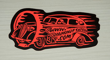 CanadaStickerKing.com, sample of shape cut fluorescent stickers
