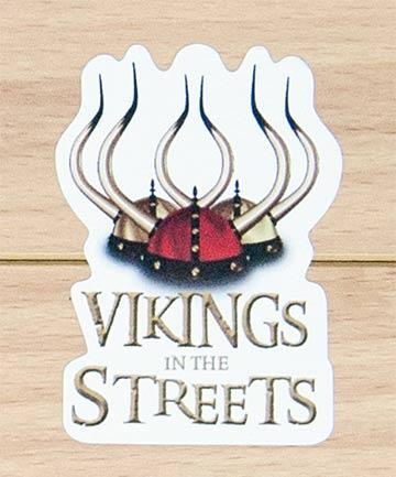 Custom printed shape cut stickers for Festival