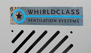 Chrome Poly Decal on industrial equipment - Ventilation Company