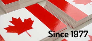 Canada Flag Stickers Example