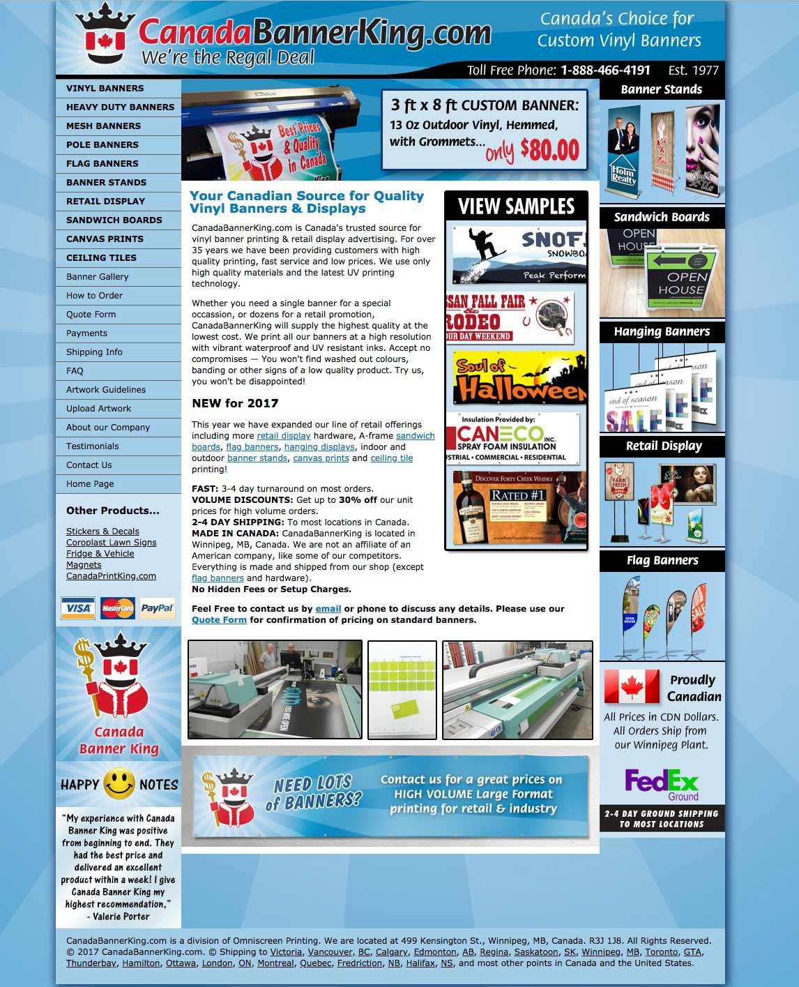 Visit CanadaBannerKing.com