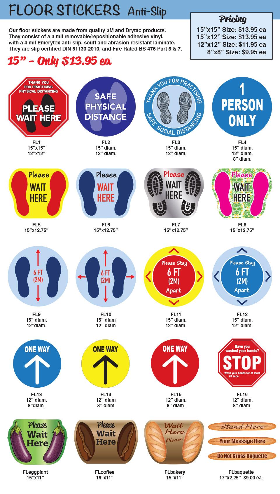 Covid19 Floor Stickers