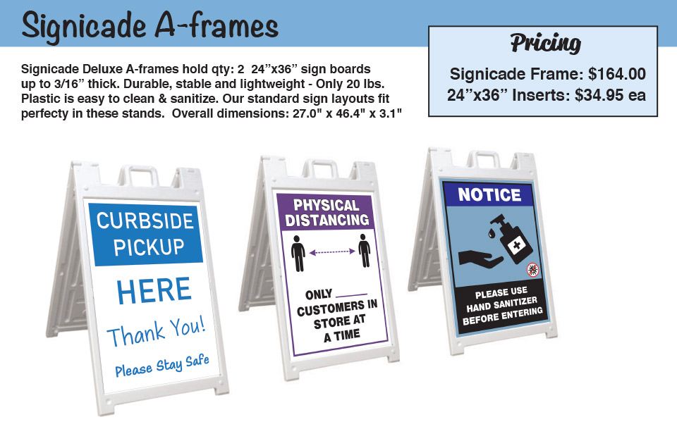 Signicade A-frame Sandwich Board Signs