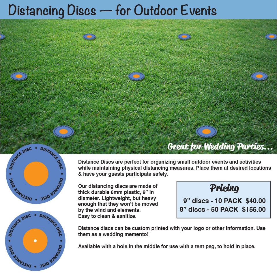Distance Discs - Physical Distancing for Outdoor Events